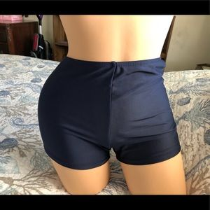 Other - Navy High-Waisted Bikini Bottoms